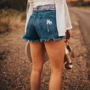 MuMu Houston PALM High Waisted Shorts